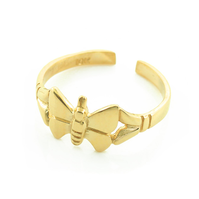 Gold Butterfly Toe Ring
