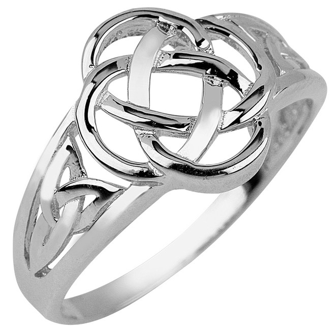 White Gold Trinity Ladies Ring