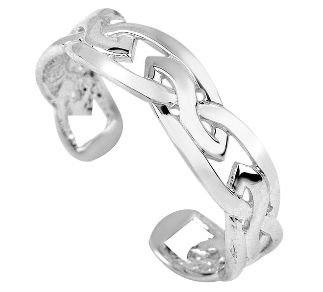 White Gold Trinity Toe Ring