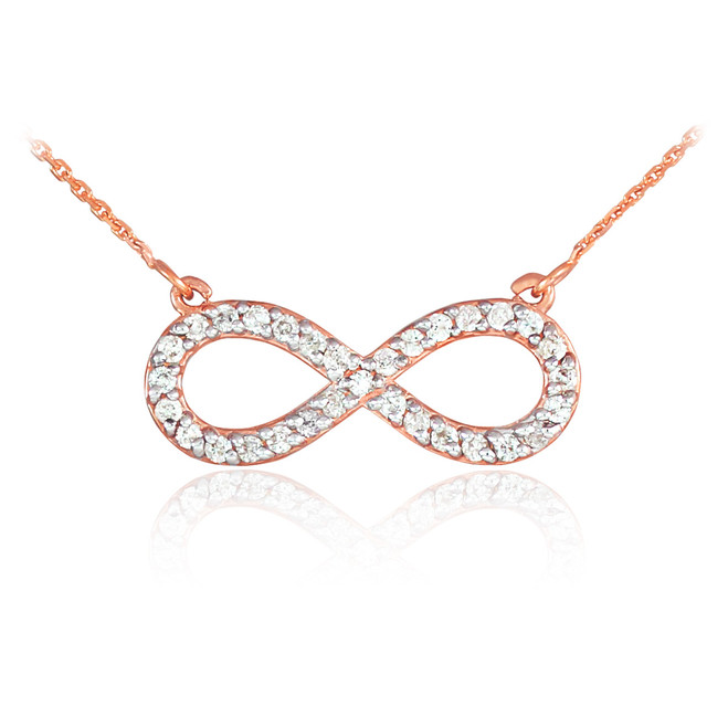 infinity necklaces rose gold infinity necklaces 14k