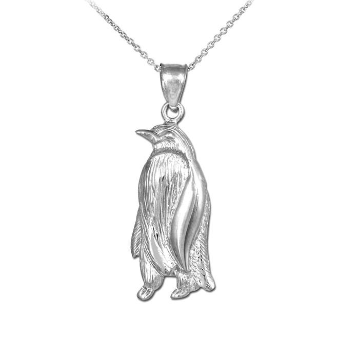 925 Sterling Silver Penguin Pendant Necklace