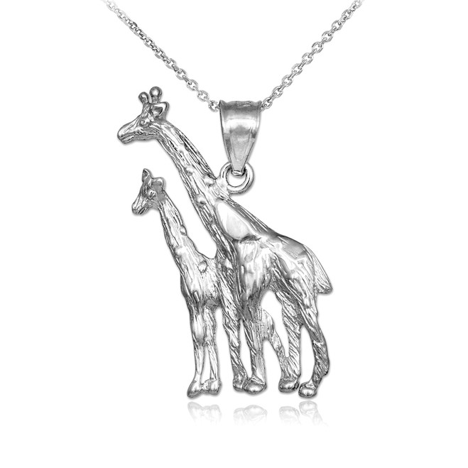 Sterling Silver Giraffe Pendant Necklace