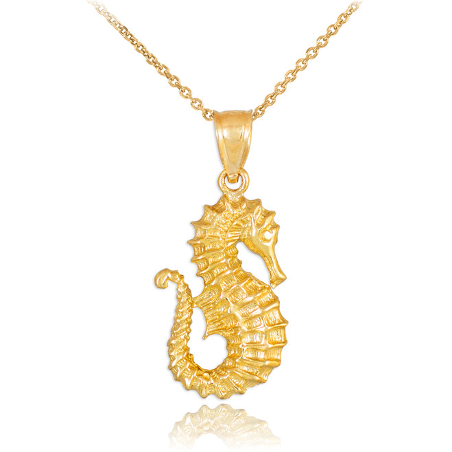 Gold Seahorse Pendant Necklace