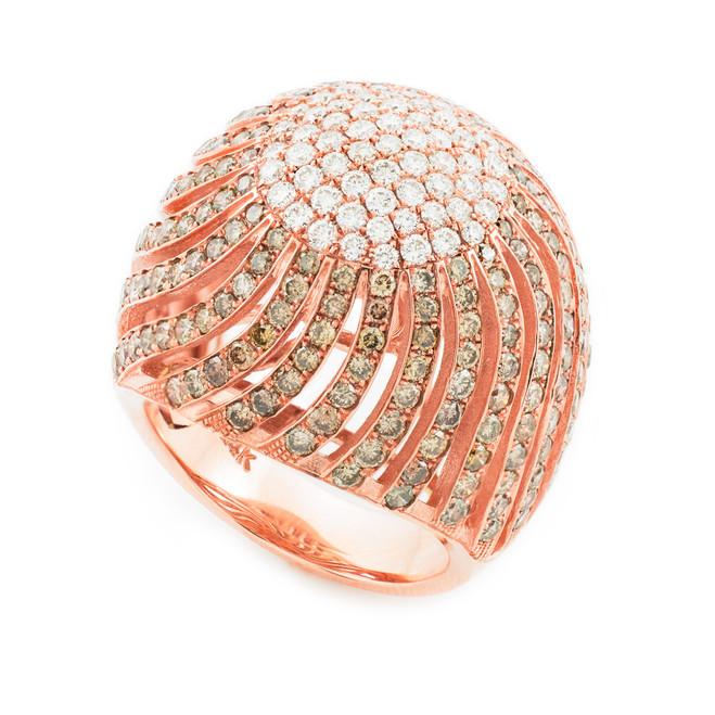 14K Rose Gold Diamond Pave Cocktail Ring