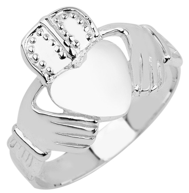 Silver Claddagh Ring Men