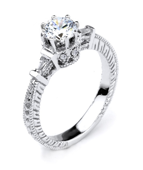 Elegant 14K Gold Cubic Zirconia Solitaire Engagement Ring