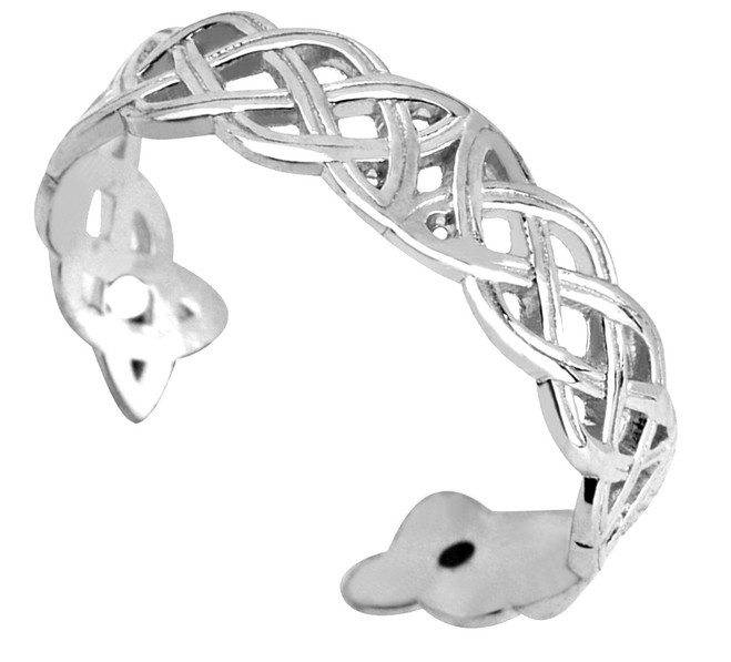 Silver Irish Trinity Toe Ring