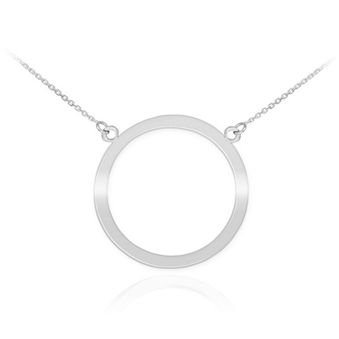 14K White Gold Circle Of Life Karma Necklace