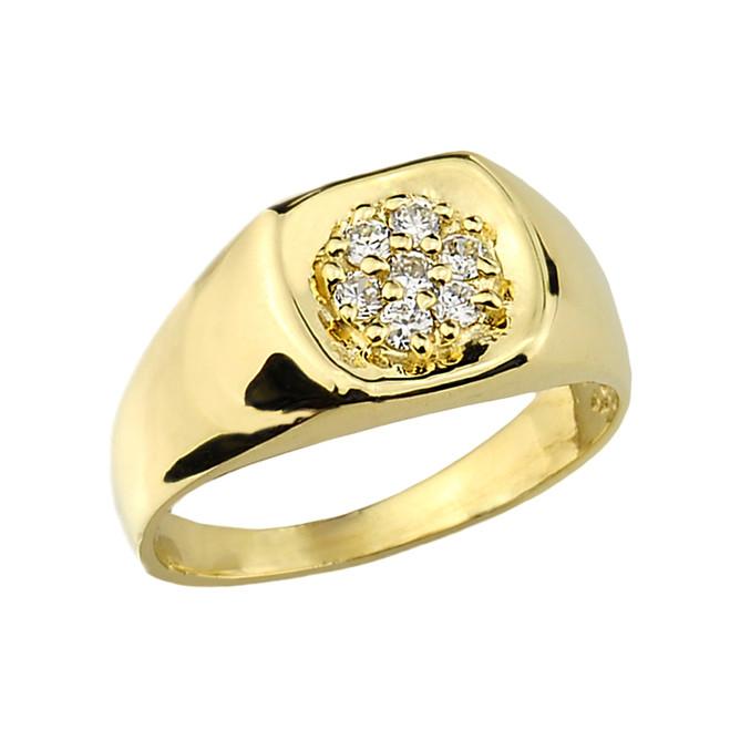 Men's Gold Diamond Wedding Ring