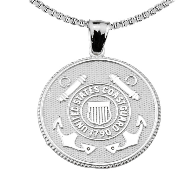 US Coast Guard Sterling Silver Coin Pendant