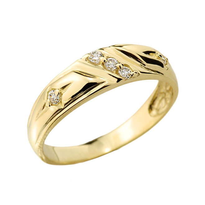 Gold Ladies Diamond Wedding Ring