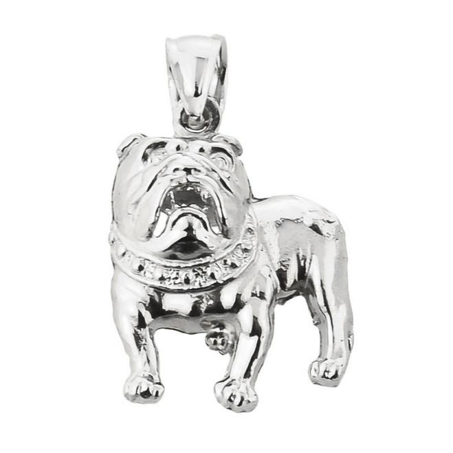 Sterling Silver Bulldog Pendant