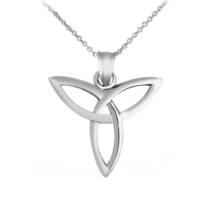 925 Sterling Silver Celtic Trinity Pendant Necklace