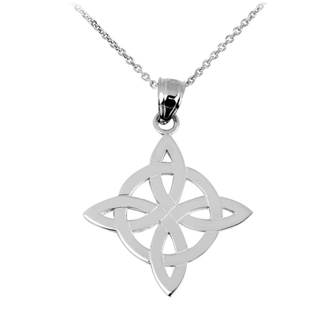 Silver Irish Celtic Trinity Pendant Necklace