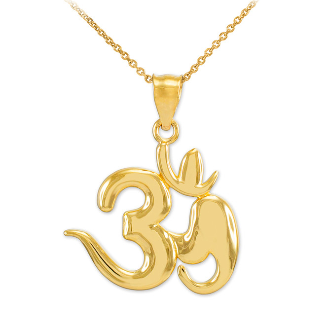 Gold Om Symbol Pendant Necklace