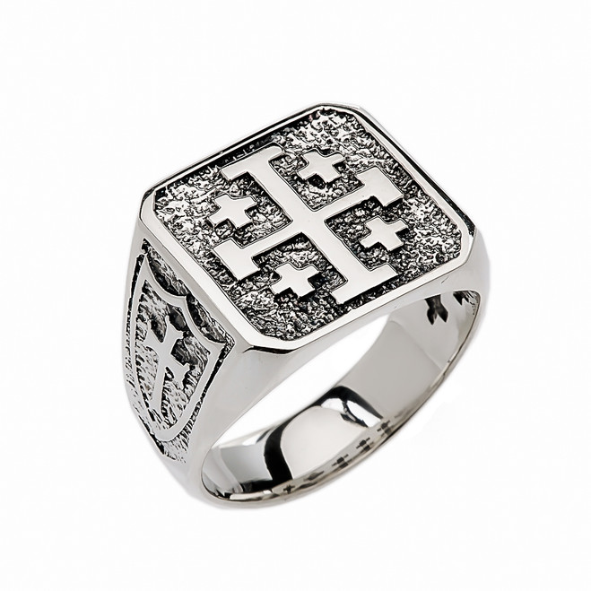 Sterling Silver Jerusalem Cross Ring