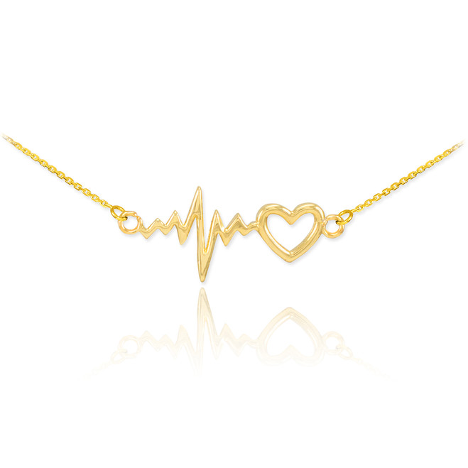 Heartbeat Necklace - 14K Gold