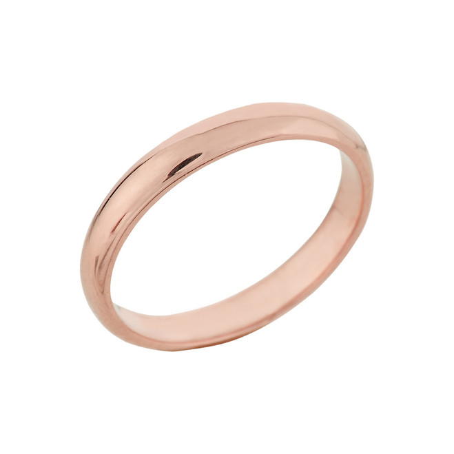 Rose Gold Classic Wedding Band 3MM