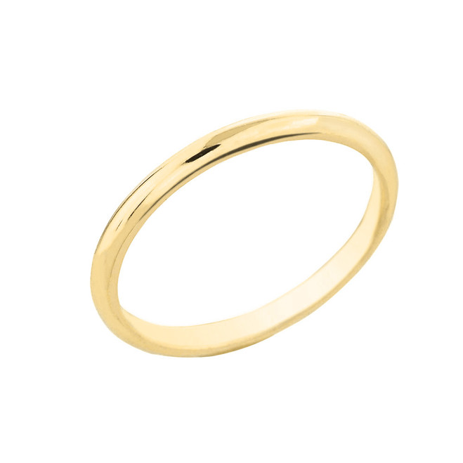 Yellow Gold Classic Wedding Band 2MM