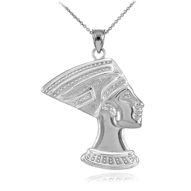 Sterling Silver Queen Nefertiti Pendant Necklace