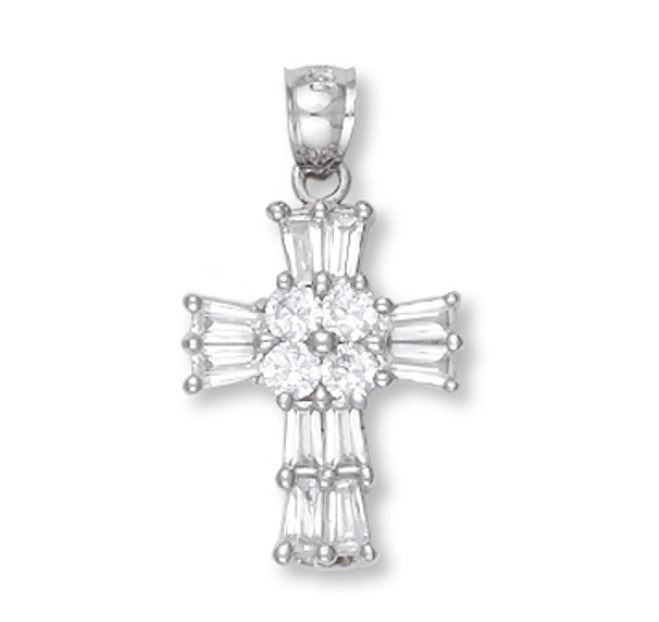 White Gold Cross Pendant5