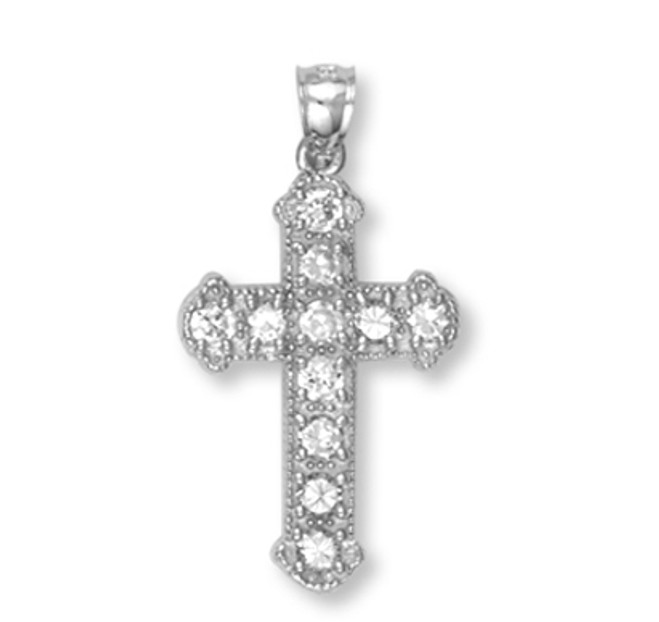 White Gold Cross Pendant8