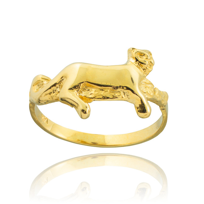 Gold Lioness Ring