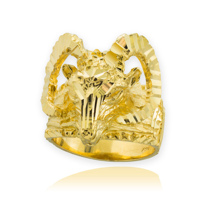 Gold Mountain Ram Aries Ring
