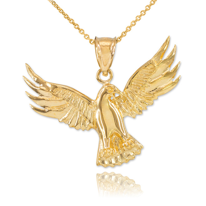 Gold Falcon Pendant Necklace