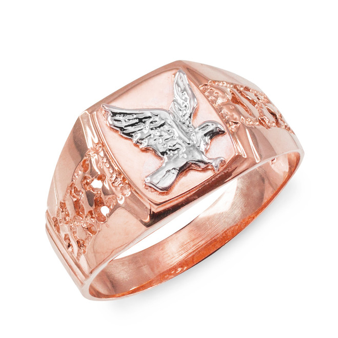 Men's Rose Gold Eagle Ring