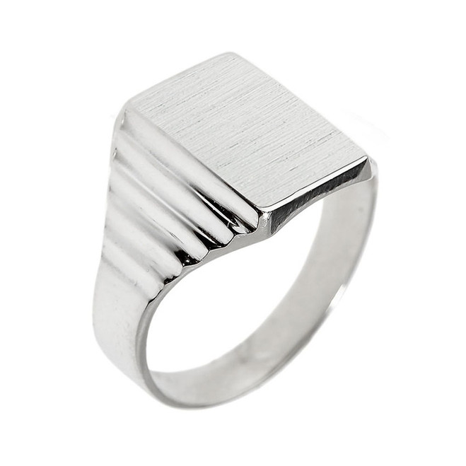 Sterling Silver Engravable  Men's Signet Ring