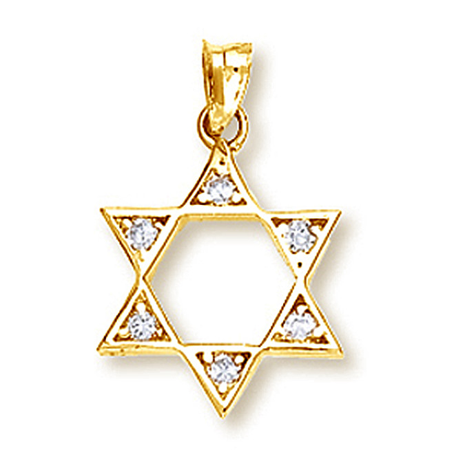 Yellow Gold Star of David Pendant2