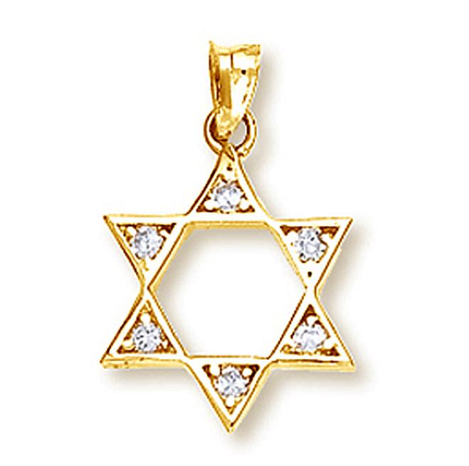 Yellow Gold Star of David Pendant2