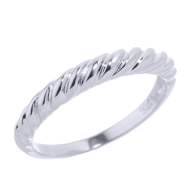 Sterling Silver Twisted Rope Knuckle Ring