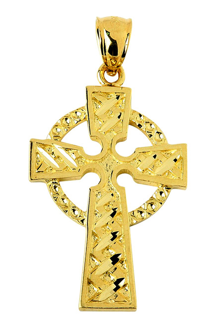 Celtic Cross Pendant in Gold