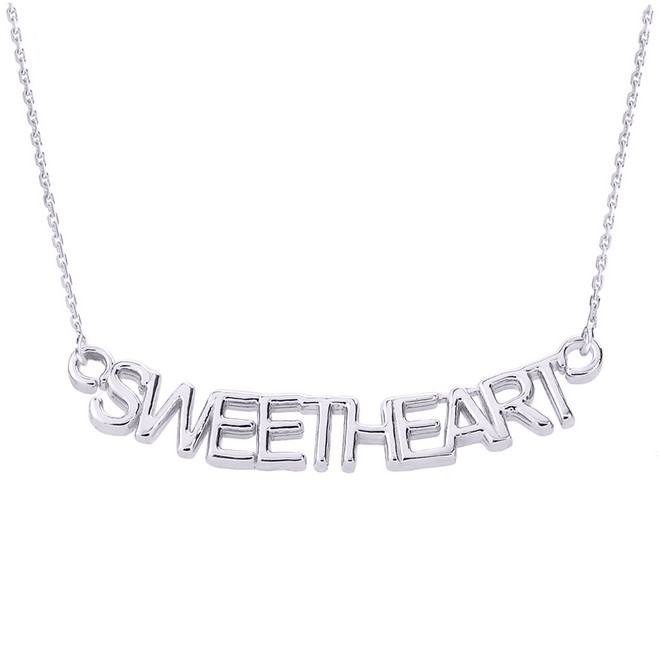 "Sterling Silver ""SWEETHEART"" Pendant Necklace"