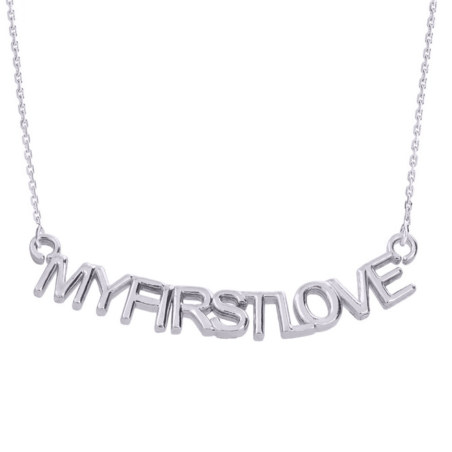 """Sterling Silver """"MYFIRSTLOVE"""" Pendant Necklace"""