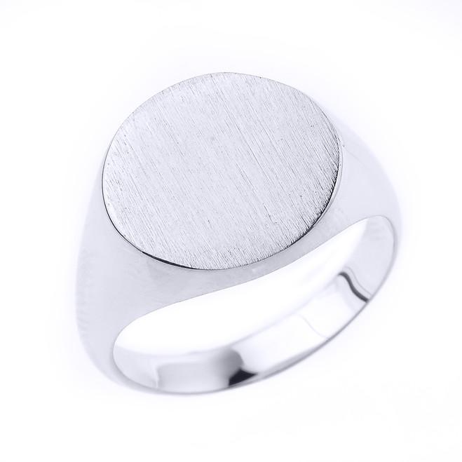 Engravable Men's Signet Ring in Sterling Silver