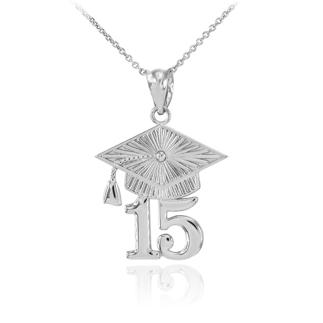 Sterling Silver 2015 Class Graduation Pendant Necklace