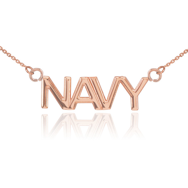 14K Rose Gold NAVY Necklace