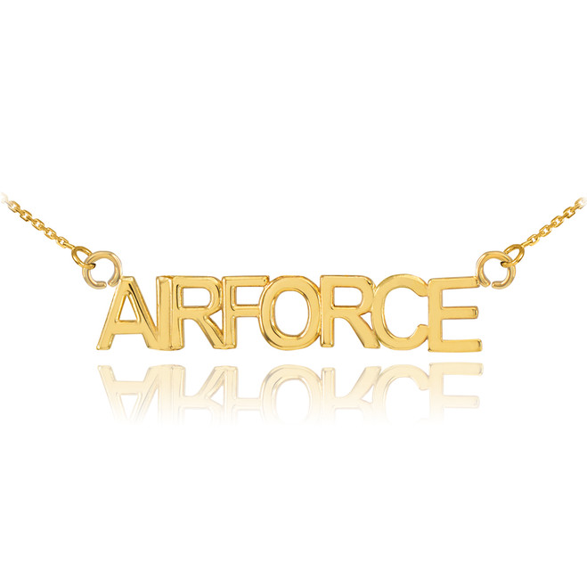 14K Gold AIRFORCE Necklace
