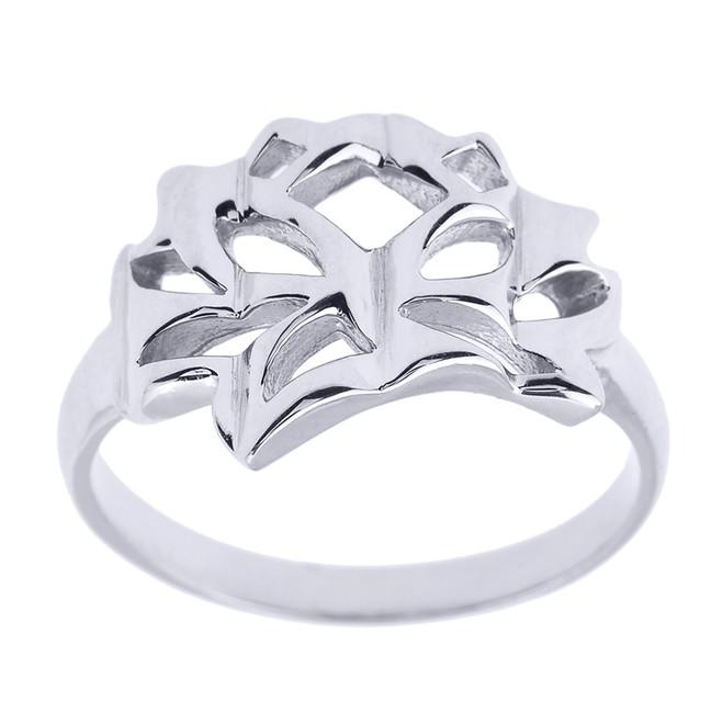 Sterling Silver Lotus Blossom Flower Ring