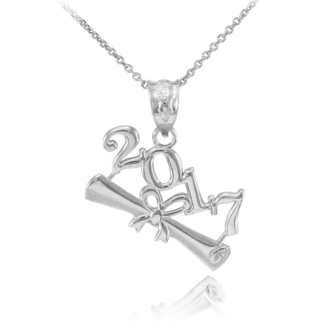 Sterling Silver 2017 Graduation Charm Pendant