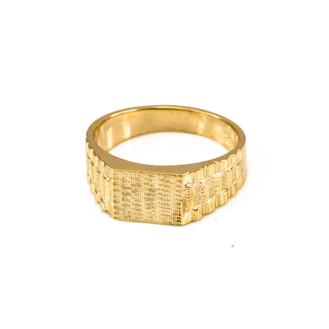 Solid Gold Watchband Design Baby Ring