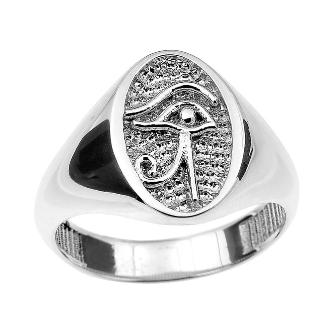 Sterling Silver Eye of Horus Ring