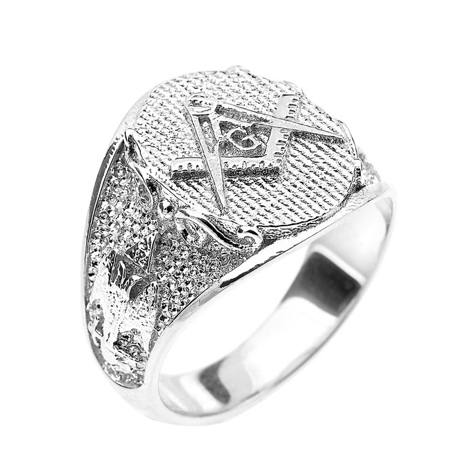 Sterling Silver Masonic Men's Ring Scottish Rite