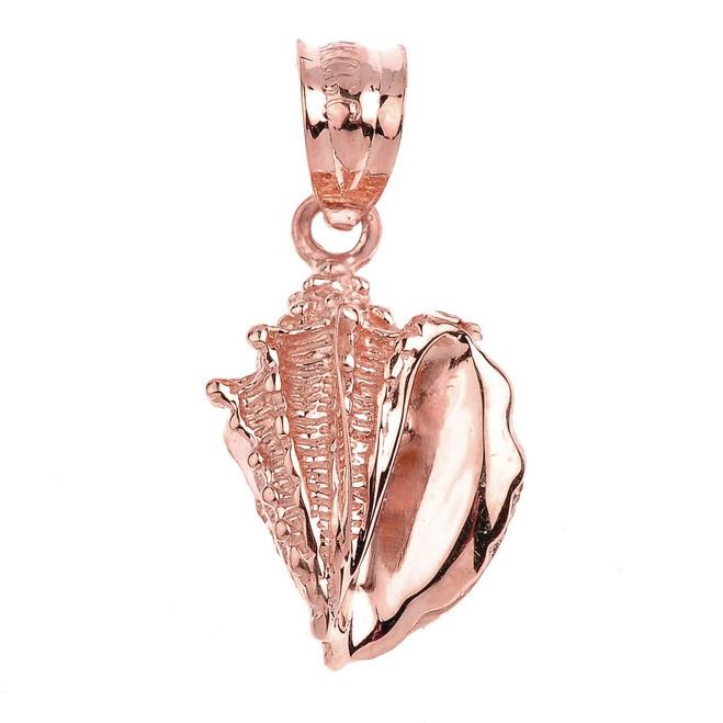 Rose Gold Seashell Charm Pendant Necklace