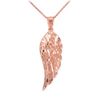 Rose Gold Angel Wing Pendant Necklace
