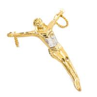 Gold Crossless Crucifix Large Pendant
