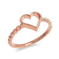 Rose Gold Classic Open Heart Ring